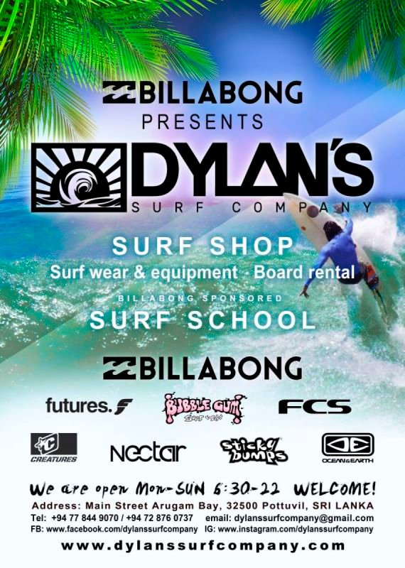 Dylans surf company poster