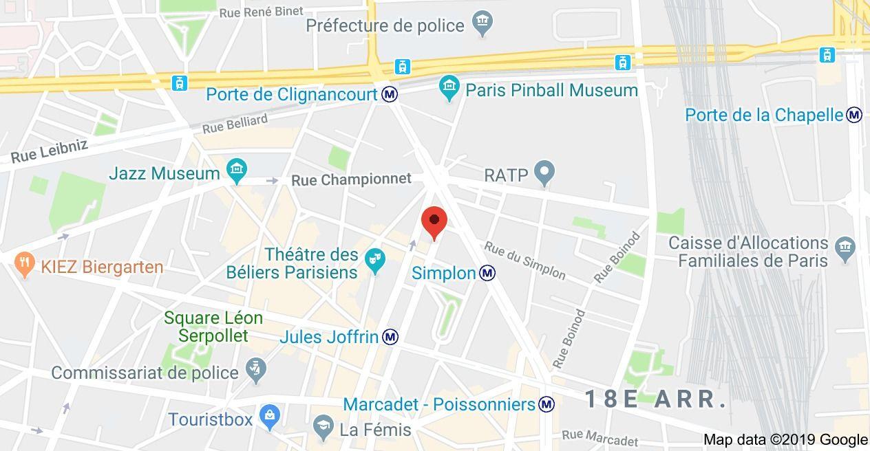 Adresse Escrime Paris Nord 64 Rue Hermel, 75018 Paris