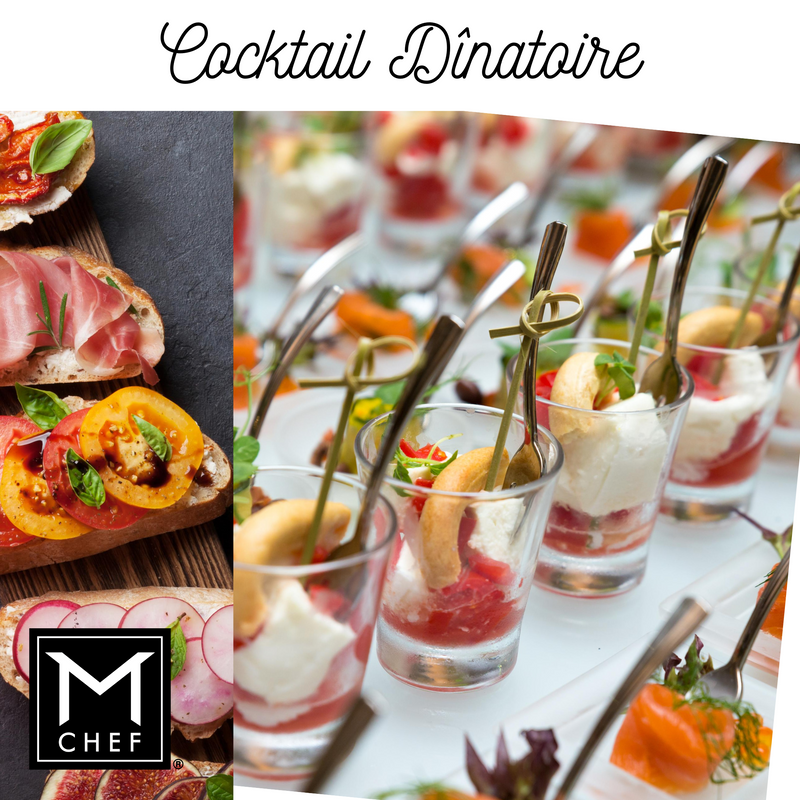 Classy Cocktail Appetizers Reception