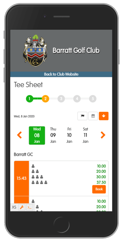Online Tee Sheet for Members & Visitors
