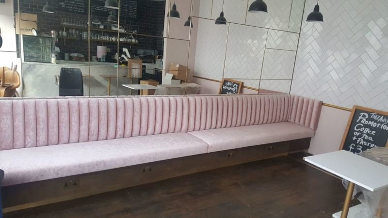 Banquette seats made on measure