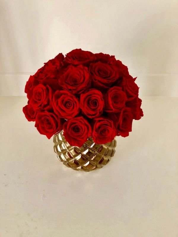 108 Red Rose Pave 33 Roses