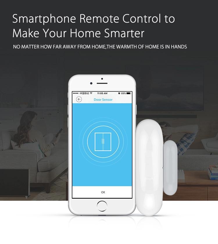 Home Alarm Accessories Tuya Smart App Wireless Wifi Door Window Sensor Detector