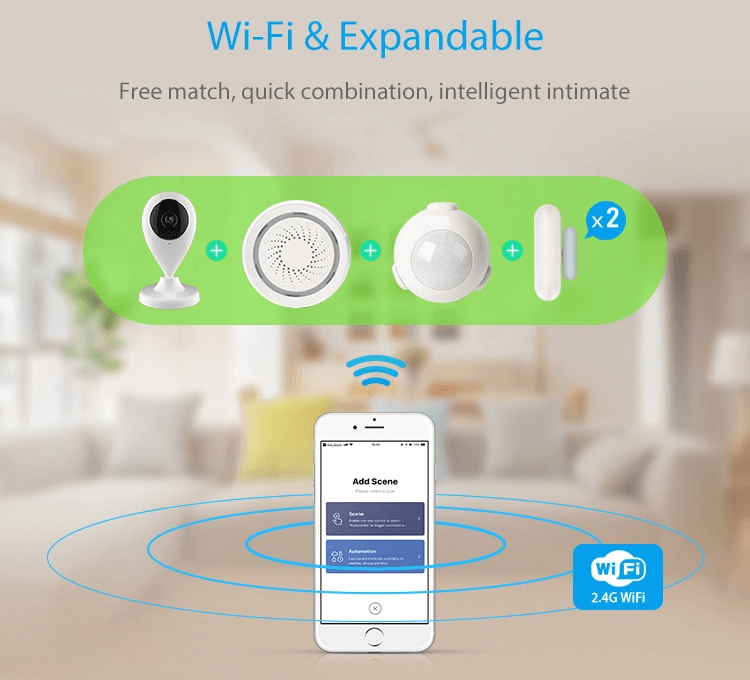 Tuya Smart Home Automation Security Alarm System Smart Sensors and Sirens Kit support Alexa and Google Home