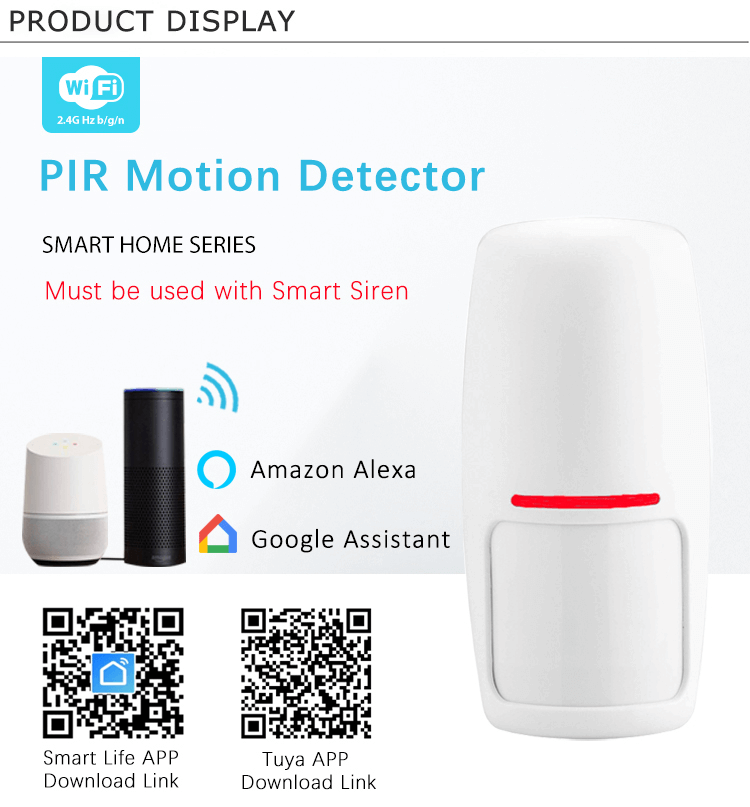 Wireless Mini PIR Motion Sensor Detector for Tuya Smart Home Siren Alarm Security System