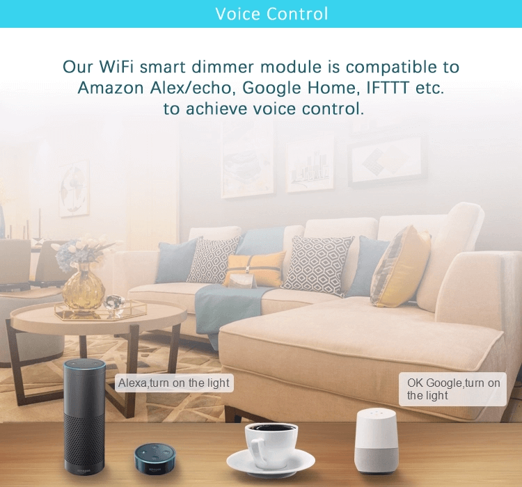 Wireless WIFI Remote Control Smart Switch Compatible with Alexa and Google Home and IFTTT Voice Control
