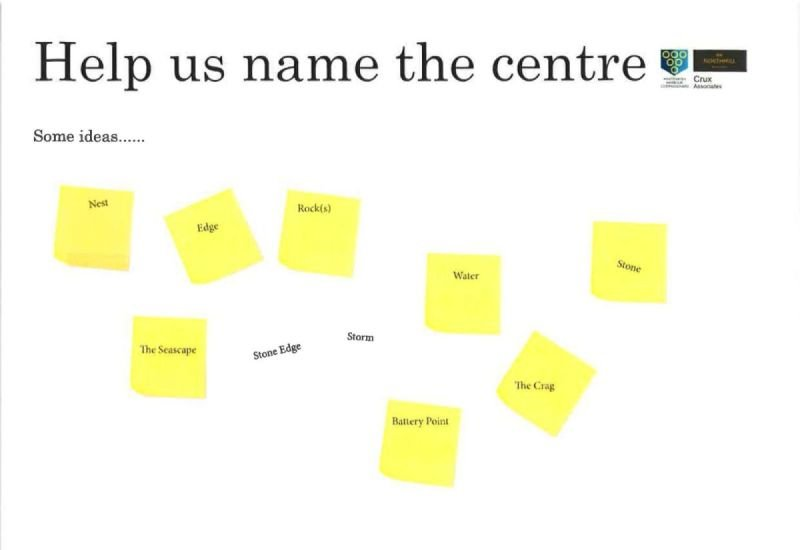 Help us name the centreHere are some ideas to start with: