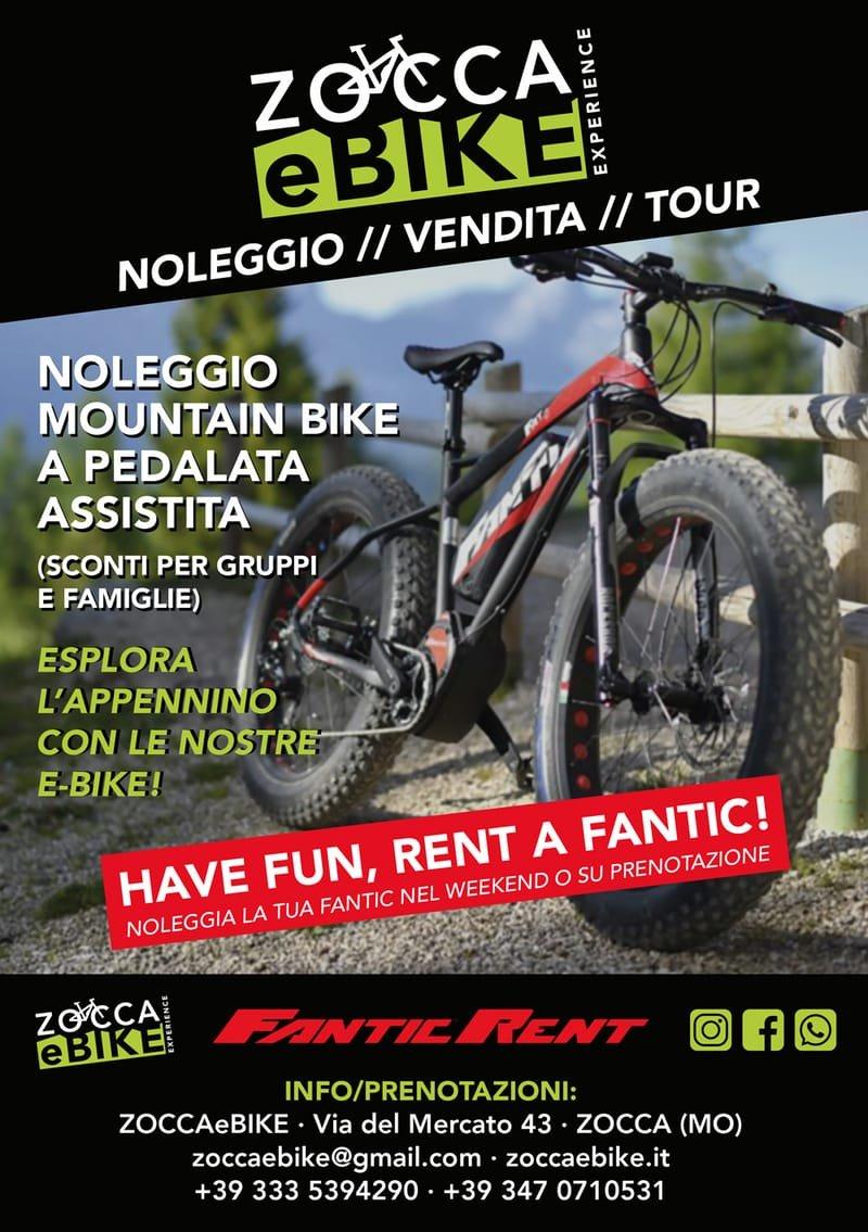 Zocca e-Bike, mountain-bike a pedalata assistita