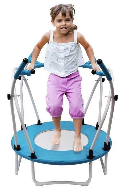 Young child on BPOD trampoline