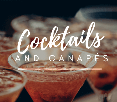 Cocktails & Canapes Package