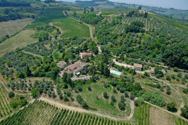 Tuscan farmhouse in the Chianti vineyards