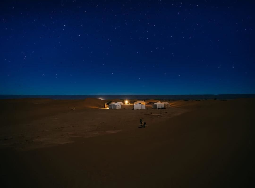 night in sahara desert