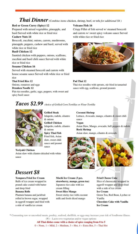 Thai Dinner & Tacos
