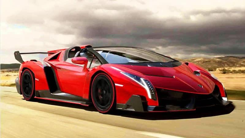 Most Expensive Cars - Lamborghini Veneno Roadster