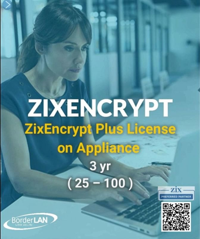 ZixEncrypt Plus License on Appliance, 3 yr (25-100)