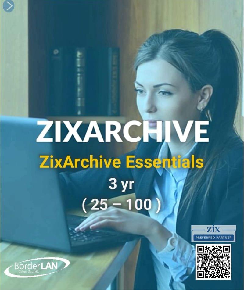 ZixArchive Essentials 3 yr (25 – 100)