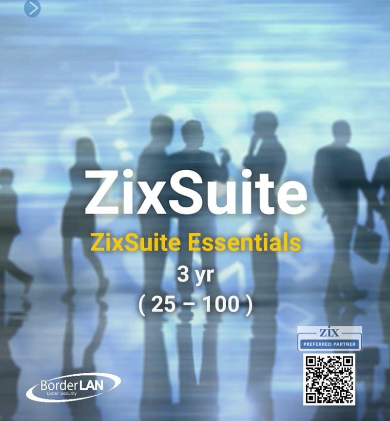 ZixSuite Essentials, 3 yr (25 – 100)