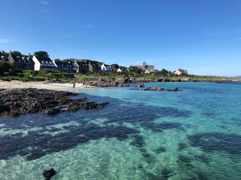 The waters off the coast of Iona