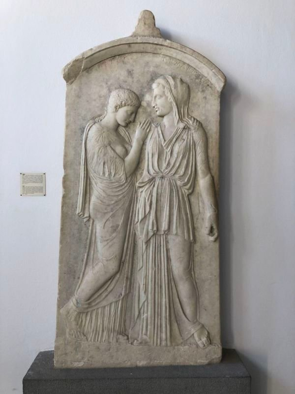 Bas Relief - A Mother Mourns Her Daughter