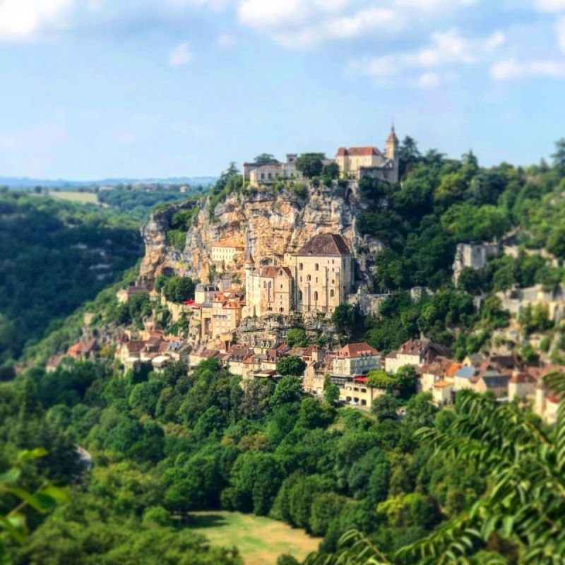 Rocamadour from a distance