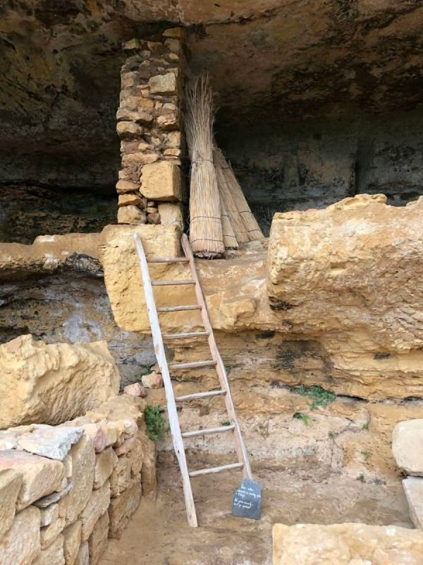 Cave dwellings in Dordogne