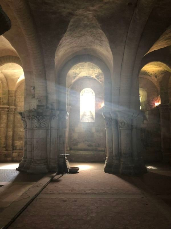 Crypt of the cathedral at Saintes