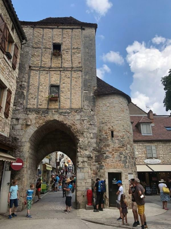 From inside the city of Rocamadour