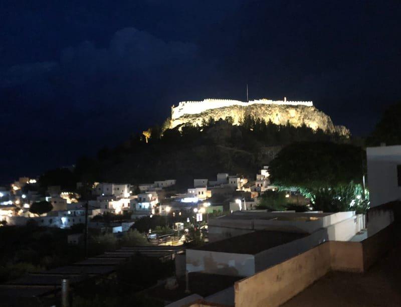 Lindos, Rhodes at night