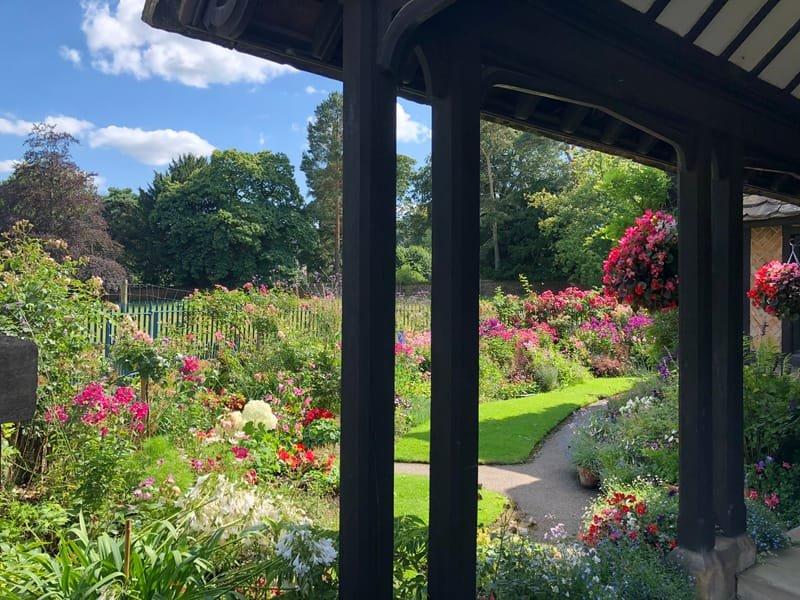 Another incredible flower garden in Edensor