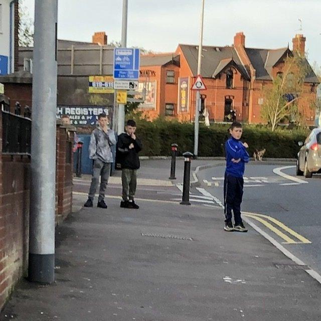 Tough guys in West Belfast