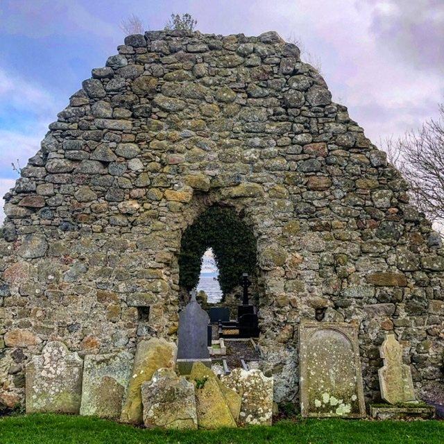 The ruin at Ardboe on Lough Neagh