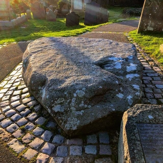 Patrick's burial stone near Downpatrick Cathedral