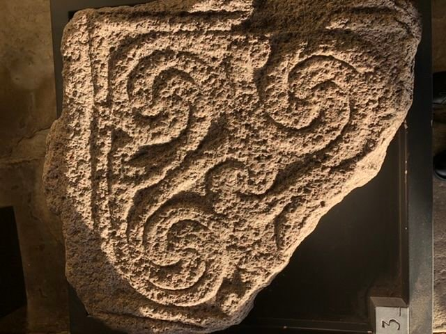 Detail from a 1000 year old grave marker at Downpatrick Cathedral