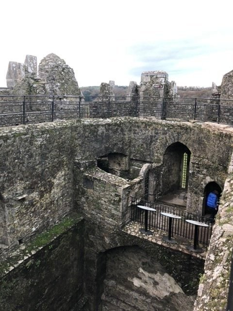Blarney Castle at the top