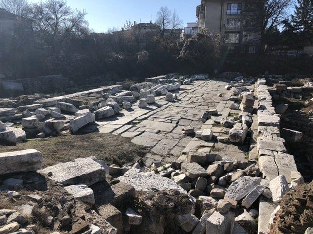 Roman ruins on the edge of Plovdiv