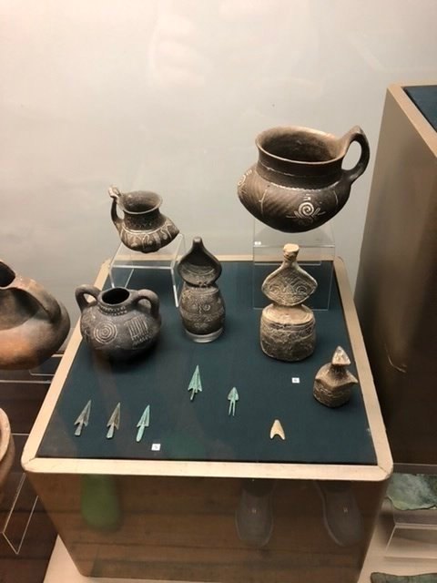 Delicate vessels in the archaeological museum in Sofia