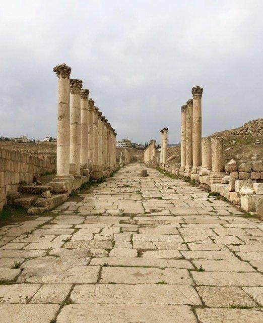 The Roman road of Jerash