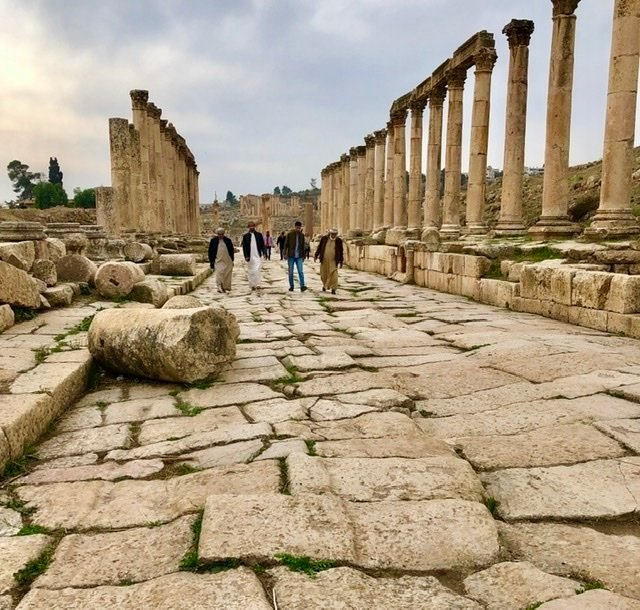 Roman road at Jerash