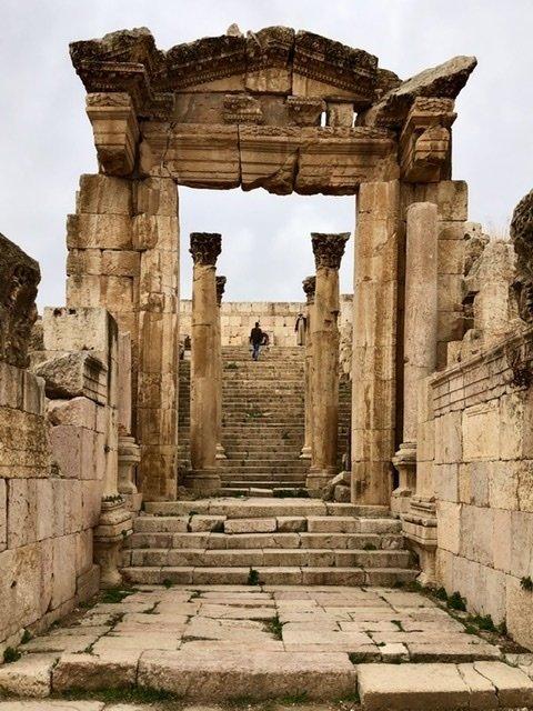 Cathedral ruins at Jerash