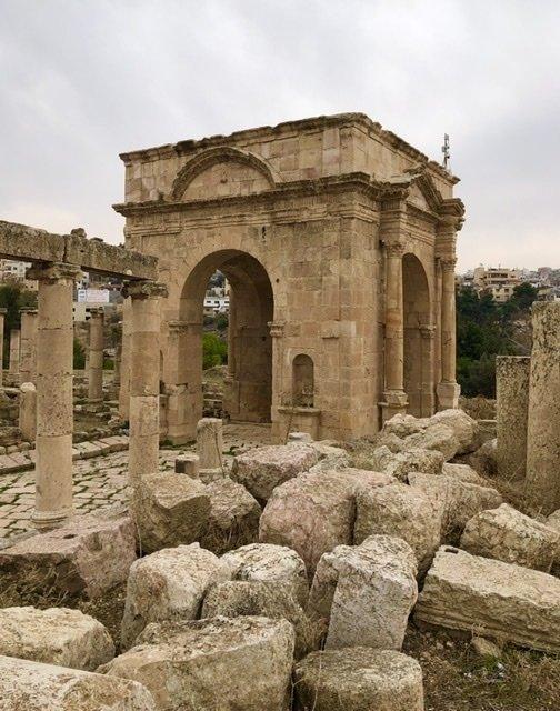 One of the huge arched gates - Jerash