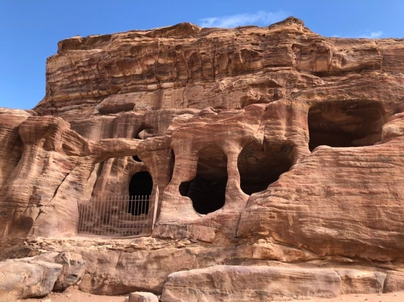 Cave like remains of structures in Petra