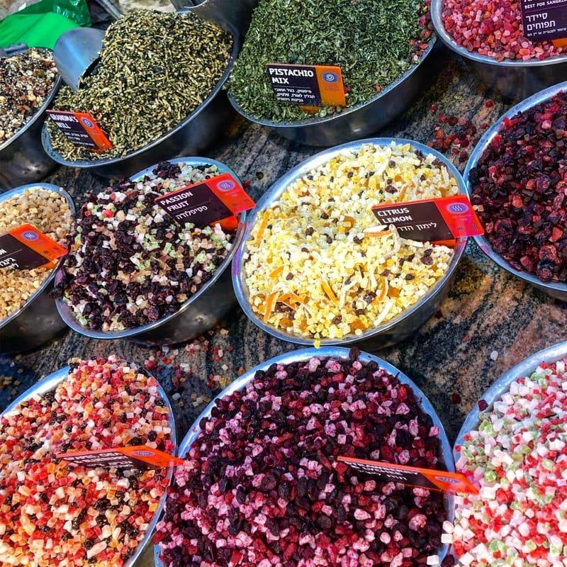 Colorful spice shop