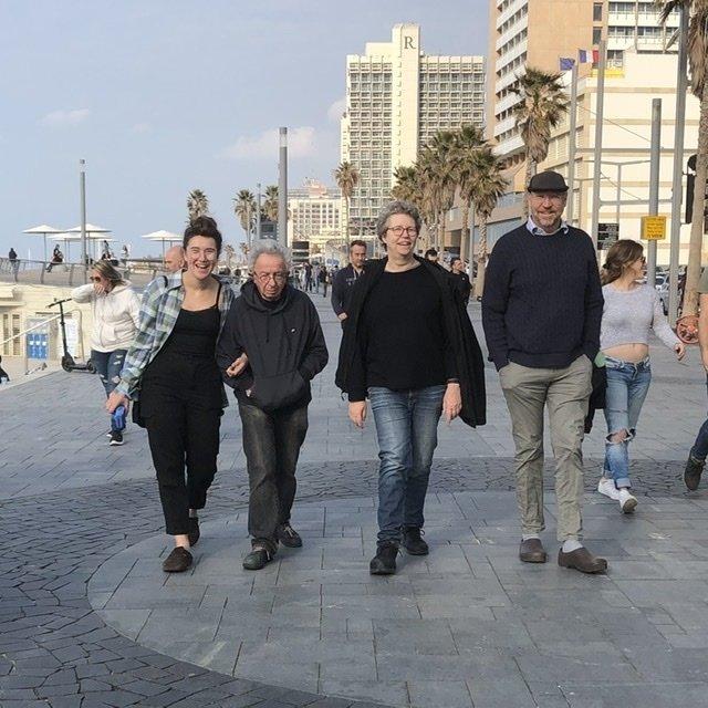 Gaia, Israel, Bettina and Peter in Tel Aviv Jaffo
