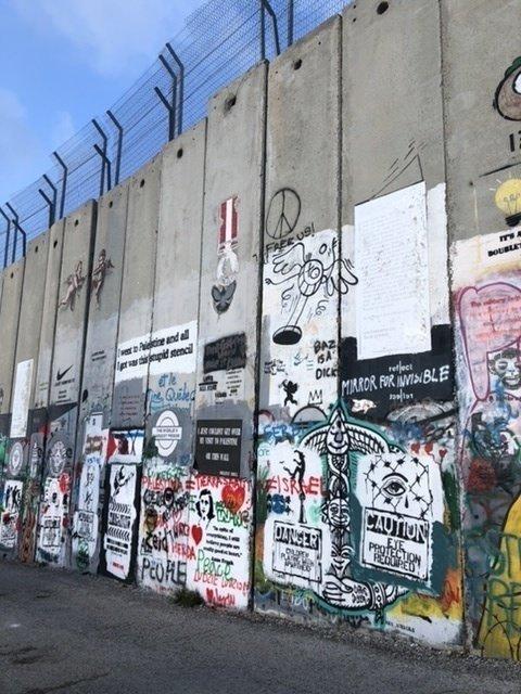 The border wall - Bethlehem