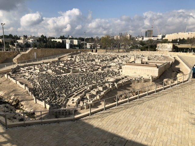 Mini Jerusalem at the Israel Museum sculpture garden