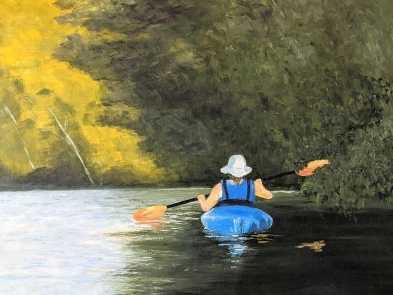 Little Blue Boat_acrylic