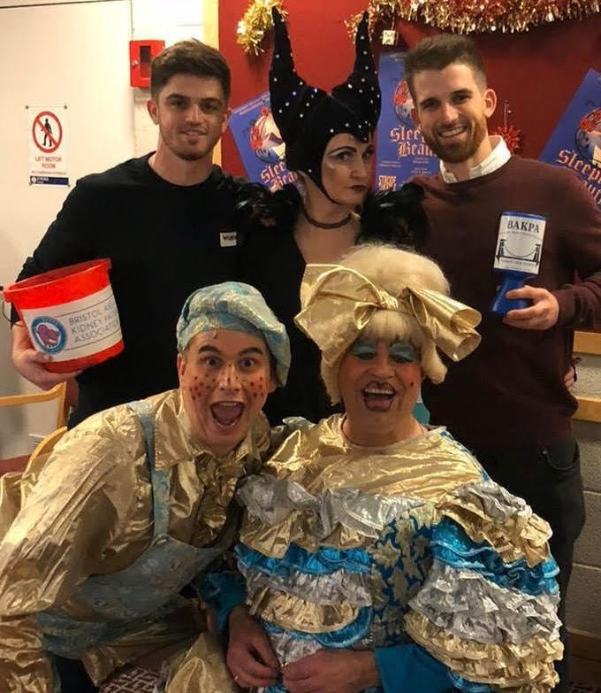 Theatre-goers donate to charity that supported panto baddie's family
