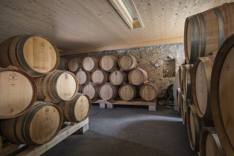 La cave du Domaine Le Petit Château dans le vignoble du Vully