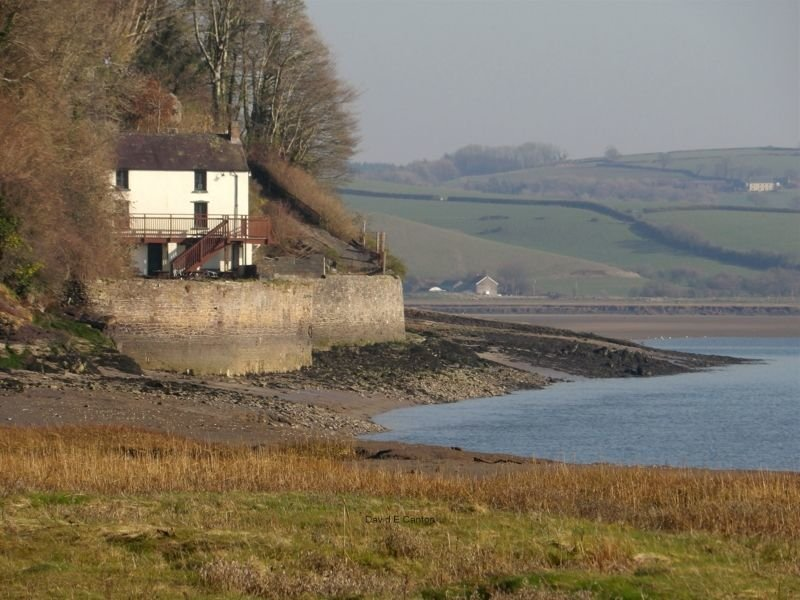 The Boat House in Laugharne.