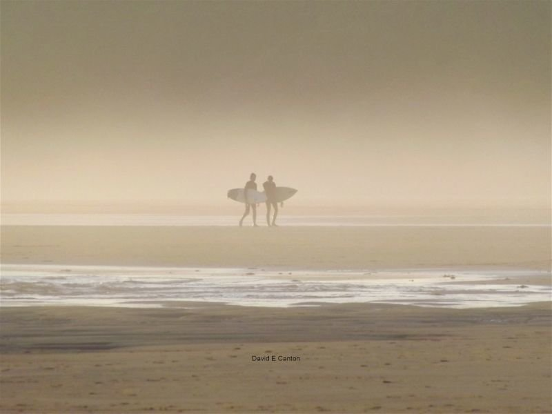Surfers on Freshwater West